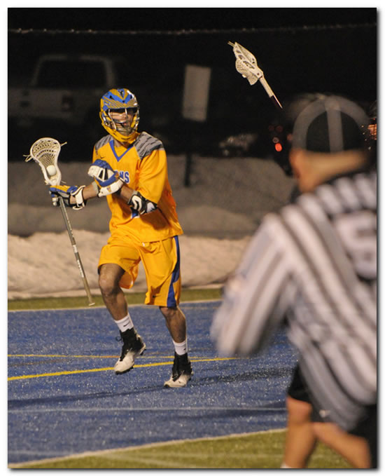 Lions' men's lacrosse team claims first win of season with a 7-6 OT decision at Wabash College