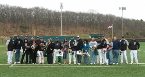 Baseball Splits with Panthers on Senior Day
