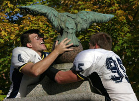 Carleton turns the eagle