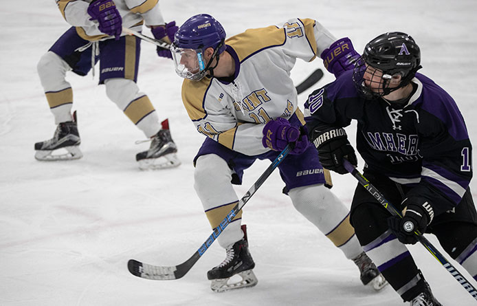 Men's Ice Hockey Returns From Winter Break with Loss at In-State Rival Castleton