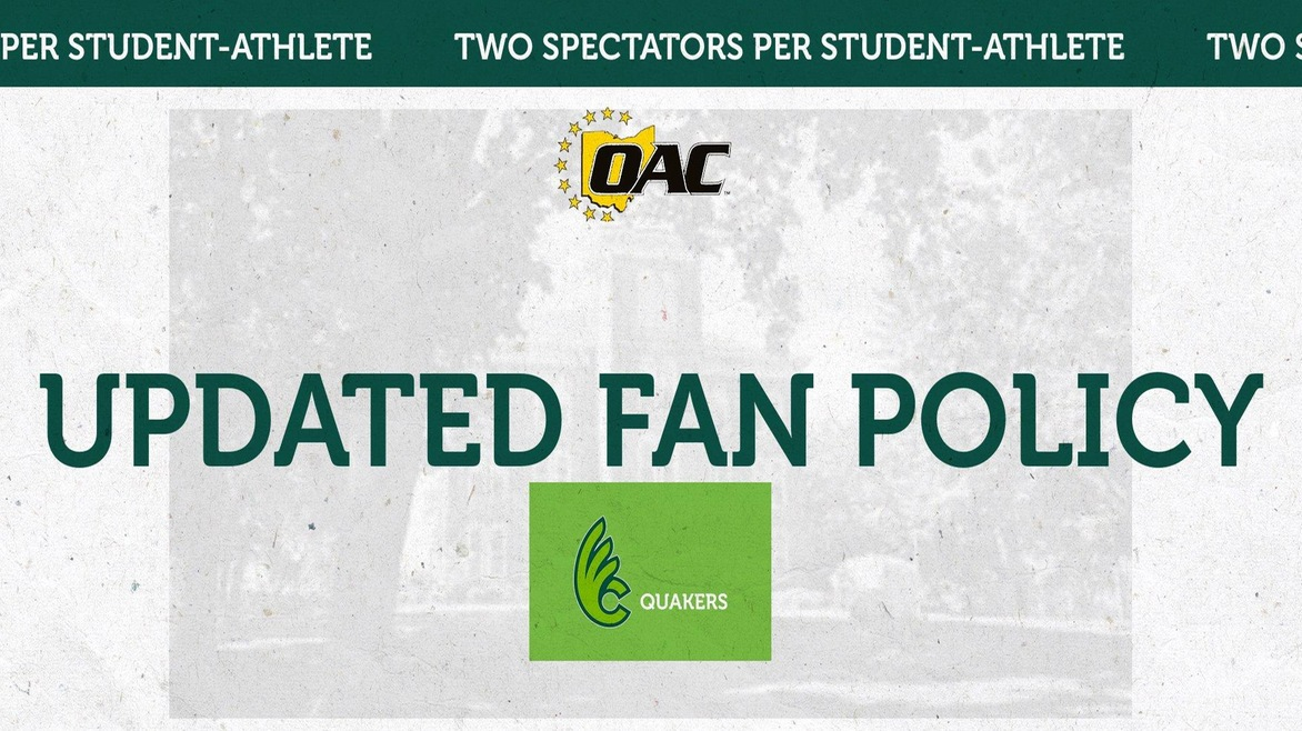Updated OAC Fan Policy for Spring Sports Season