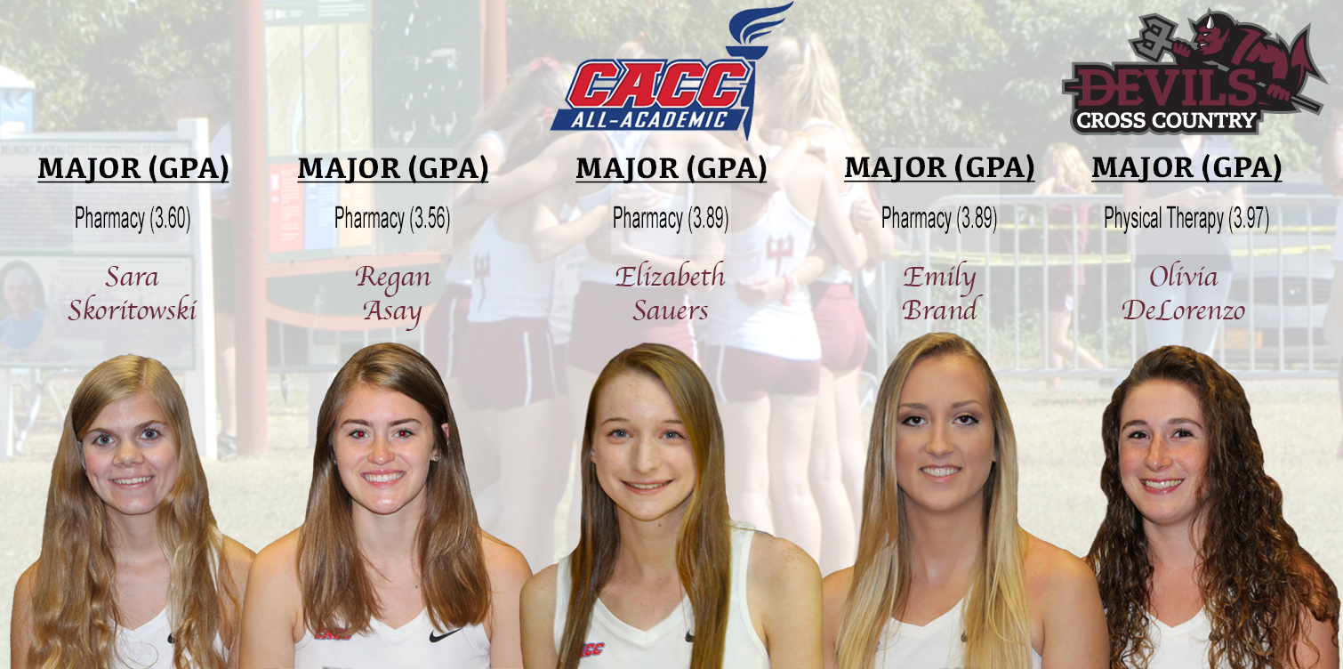 Five Devils Earn Spot on CACC Women's Cross Country All-Academic Team