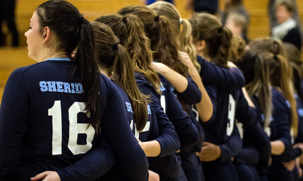 Women's volleyball bounce back with win over Conestoga