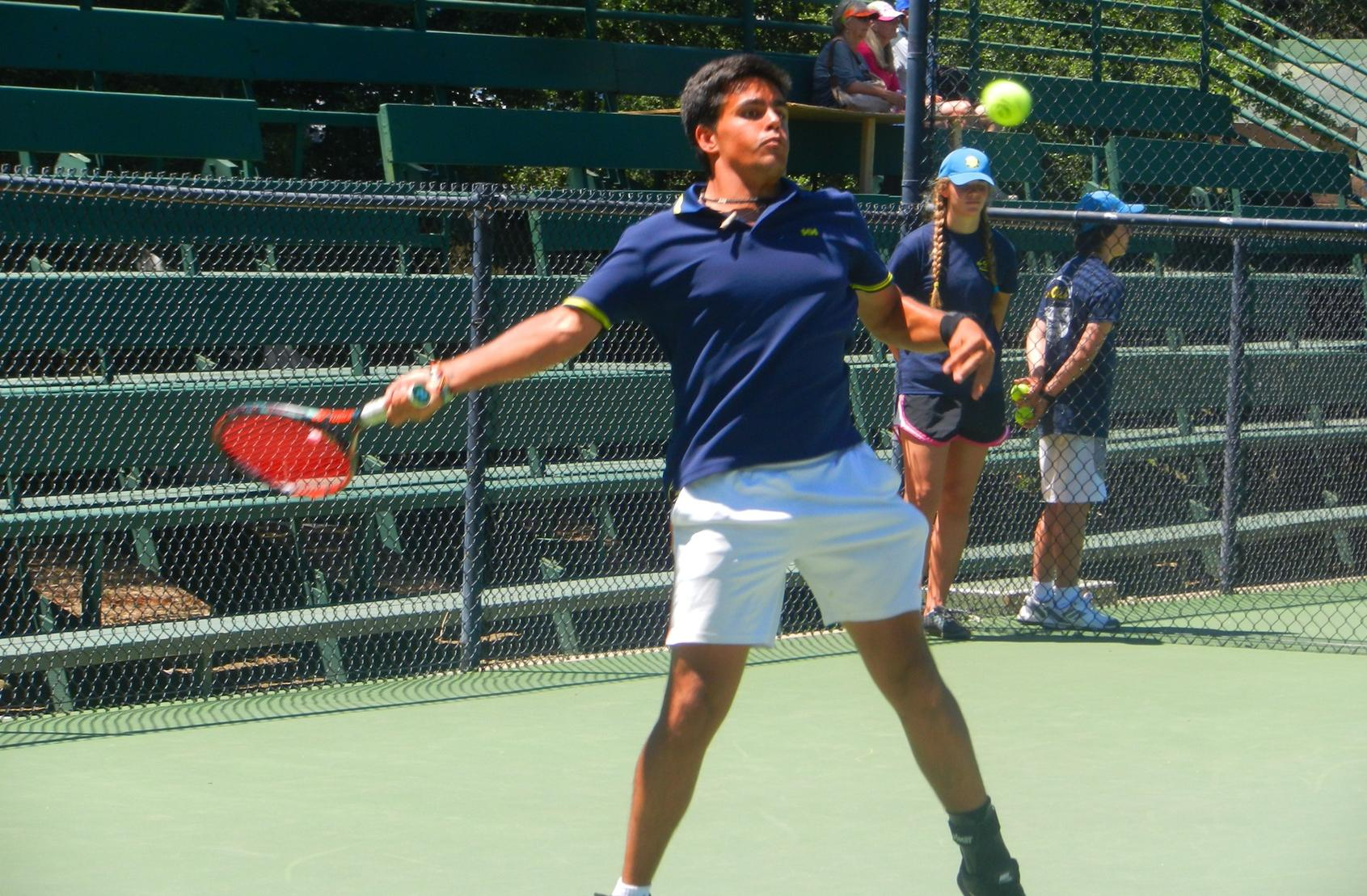 Javier Callejo going after his second state tennis singles title
