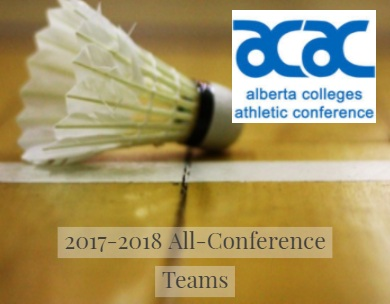 Presenting the 2017-18 ACAC Badminton All-Conference Teams