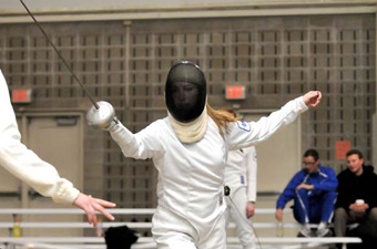 Women's fencing places third overall at New England's