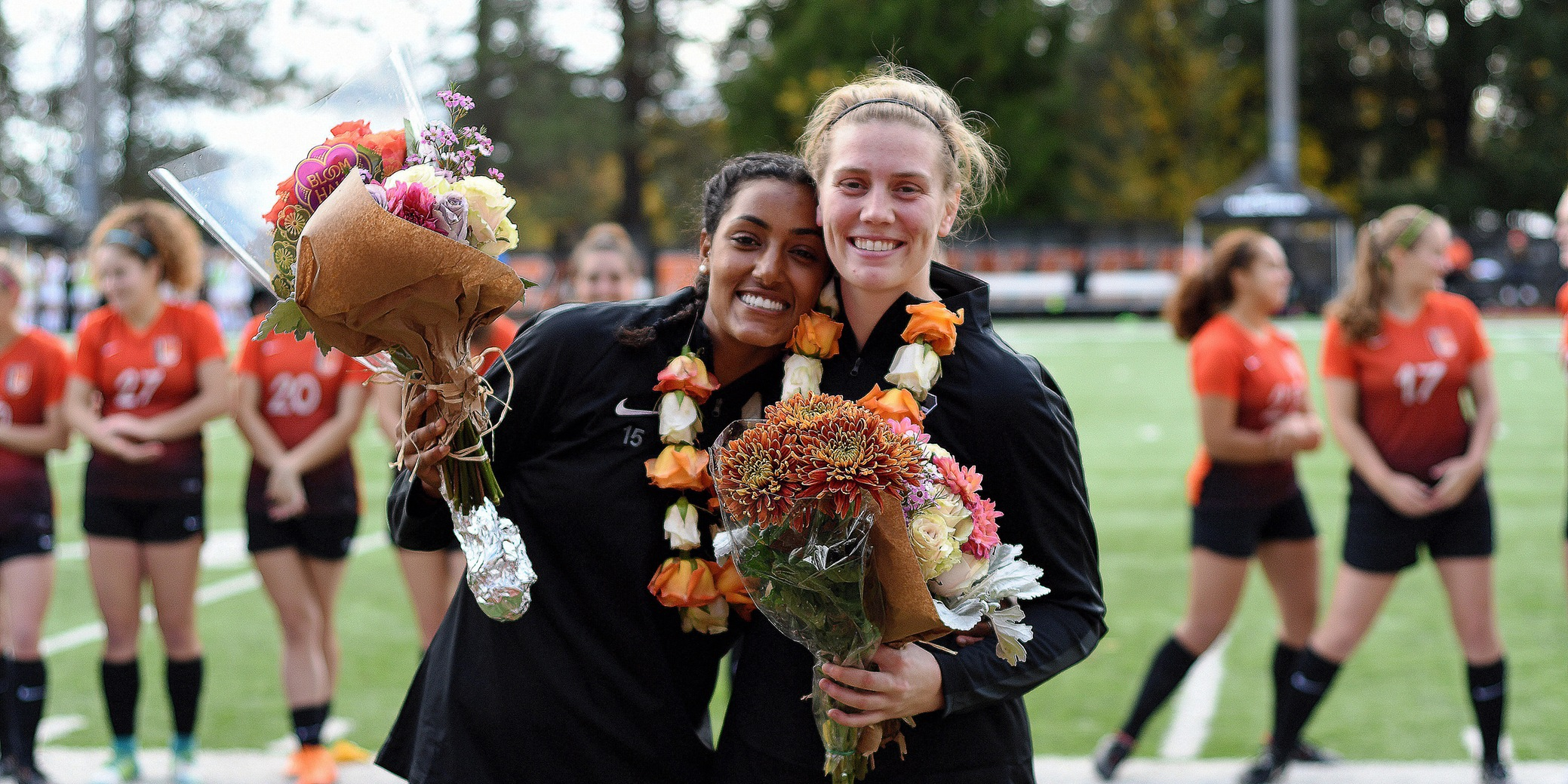 Lutz scores goal in her final game, not enough to overcome Whitworth