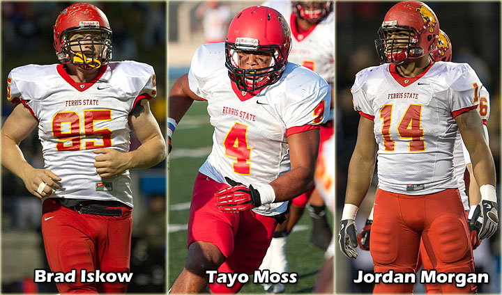 Three Bulldog Seniors Claim All-Region Gridiron Laurels