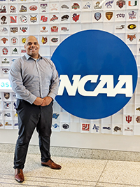 LeRoy Gardner at NCAA Headquarters.