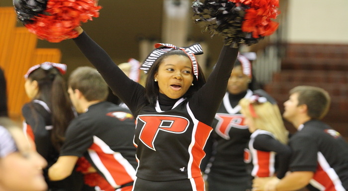 Polk State Cheerleaders Competing at National Championship