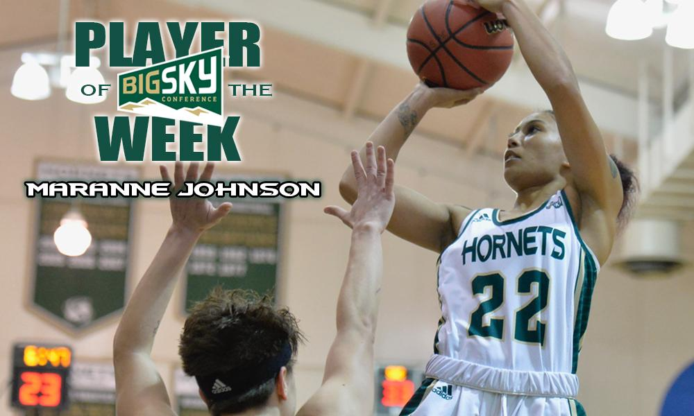 JOHNSON CLAIMS BIG SKY'S PLAYER OF THE WEEK