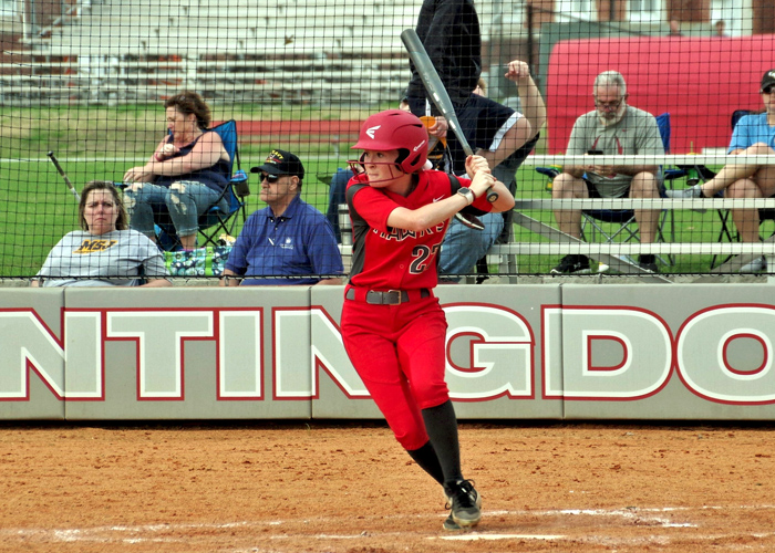 Hannah Vines was 4-for-6 with two runs in Saturday's sweep of Fontbonne. (Photo by Dr. John Williams)