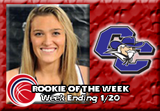 Peyton Perine-Curry, Women's Basketball: Rookie of the Week