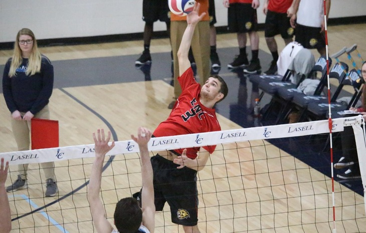 Sorensen Propels Men's Volleyball to 3-1 Win over Newbury