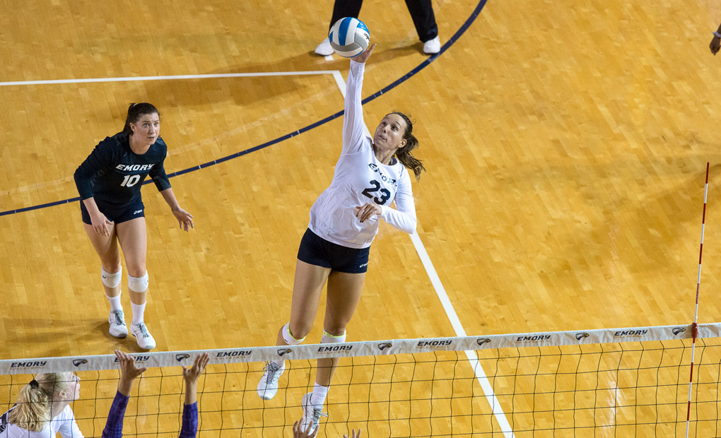 Emory Volleyball Sweeps Carnegie Mellon In UAA Semifinals -- Will Battle Chicago For Conference Title