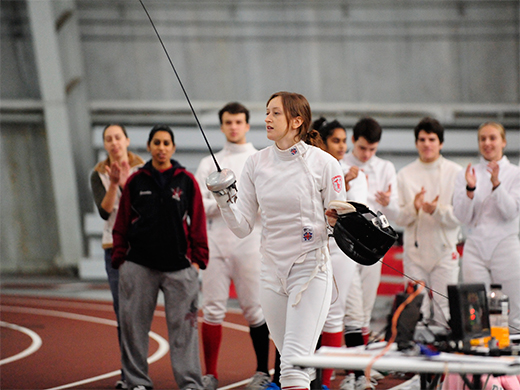 Peterson Shines as Women's Fencing Opens 2014-15 Campaign