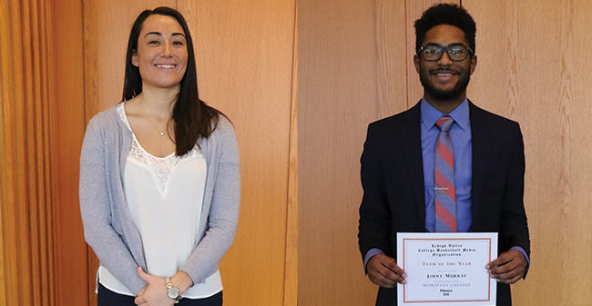 Camille McPherson '17 and Jimmy Murray '19 named to the Lehigh Valley Small College Basketball Team of the Year.