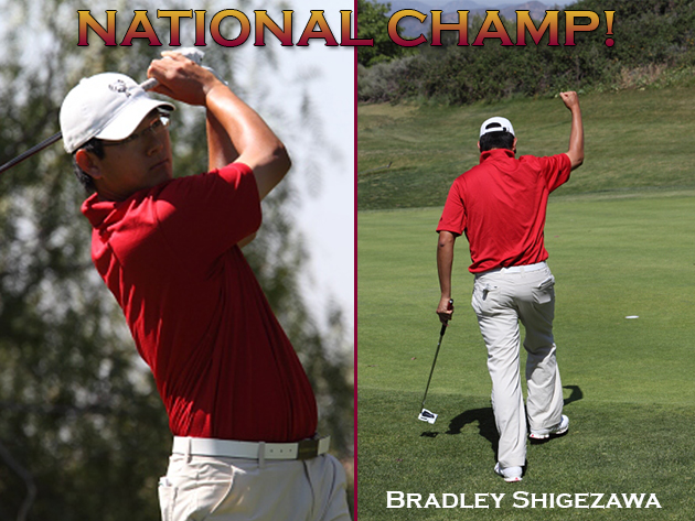Shigezawa Wins D-III Men's Golf Title, Stags Finish In Fifth