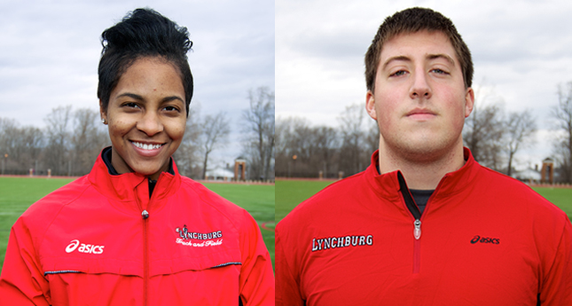 Greg Wilson and Aleshia Washington Named ODAC T&F Athletes of the Week