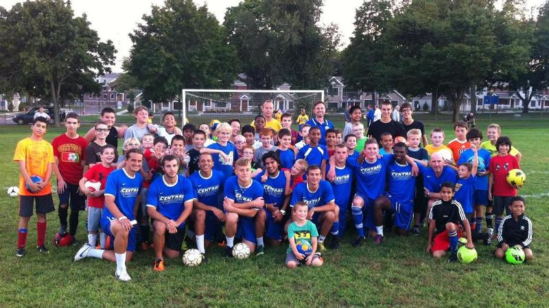 Men's Soccer Holds Youth Clinic in Newington