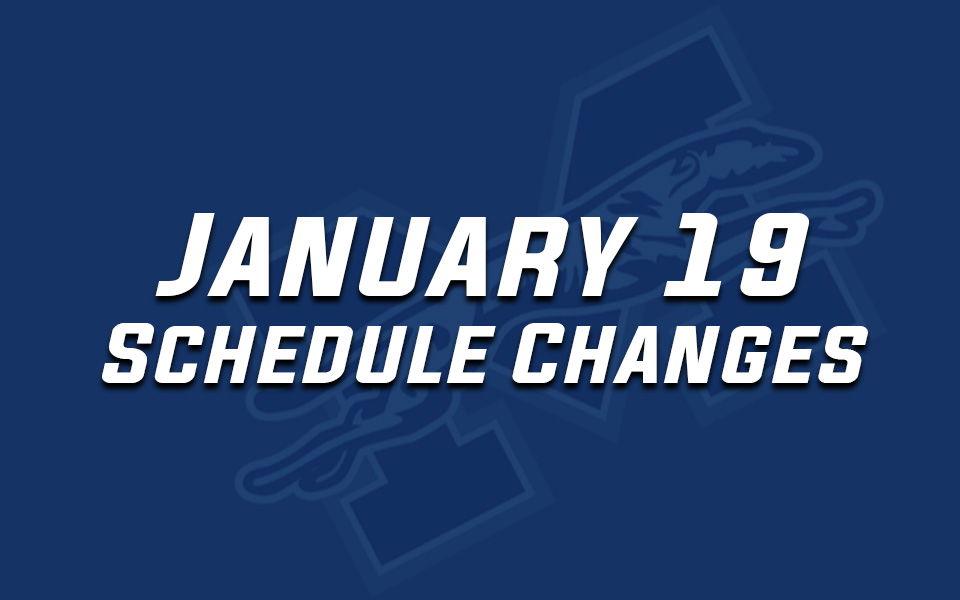 January 19, 2019 schedule changes