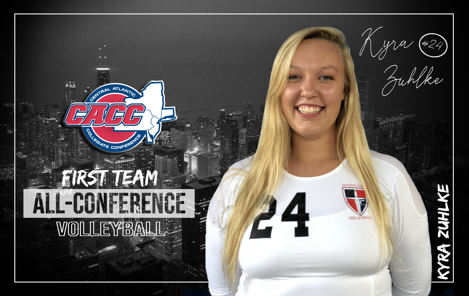 Zuhlke Named to CACC All-Conference First Team - Volleyball Wins Team Sportsmanship Award