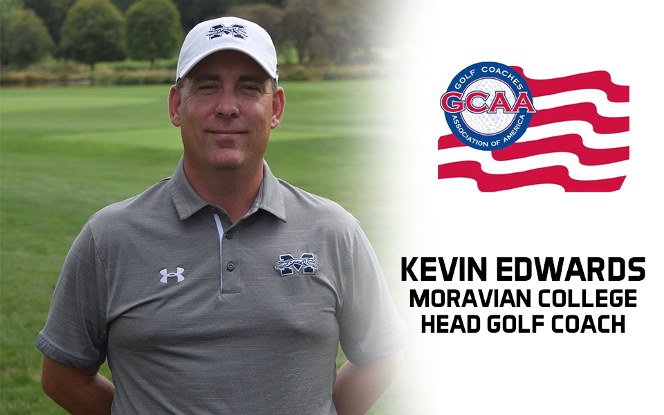 Head Golf Coach Kevin Edwards receives Golf Coaches Association of America Service Award