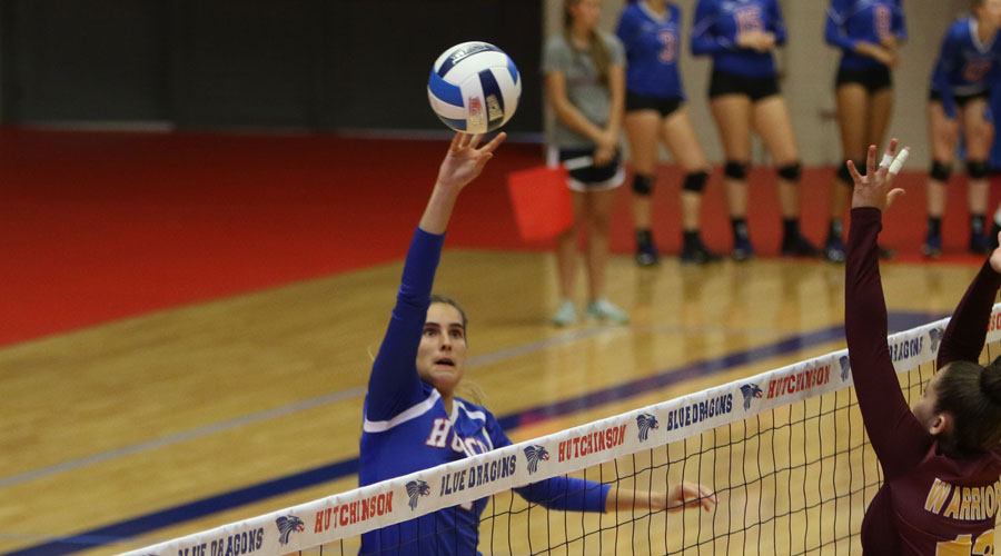 Leonie Wienkaemper and the Blue Dragon Volleyball Team open the postseason at 6:30 p.m. Tuesday against Dodge City in the opening-round of the Region VI Tournament. (Joel Powers/Blue Dragon Sports Information)