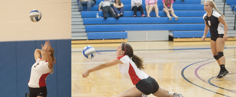 Women's Volleyball Splits at NEAC-AMCC Challenge