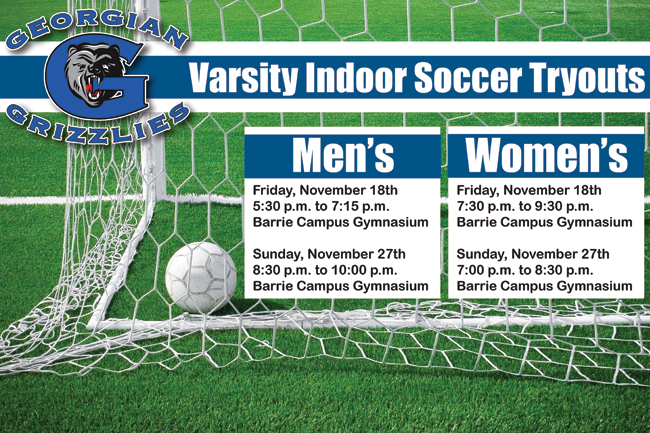 Varsity Indoor Soccer Tryout Dates Announced