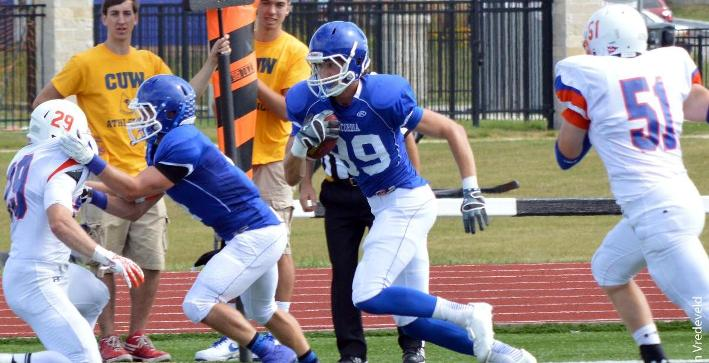 Football drops offensive shootout at Trine, comeback attempt falls short
