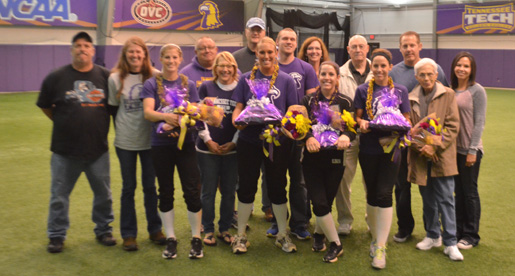 Despite rainout, Tech qualifies for OVC Tournament; Seniors celebrated