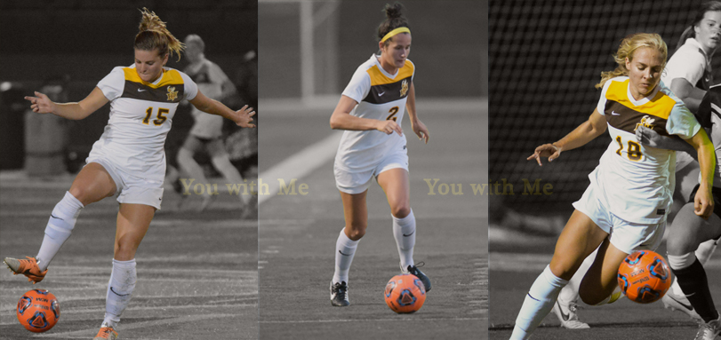 Senior captains Alex Elliott, Lauren Haynam and Anna Poptic