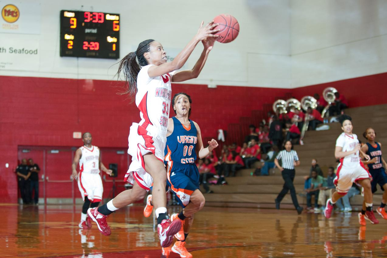 Lady Rams Basketball Vs Virginia State Winston Salem State