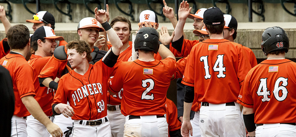 Pioneers down Anderson 7-4 to complete series sweep