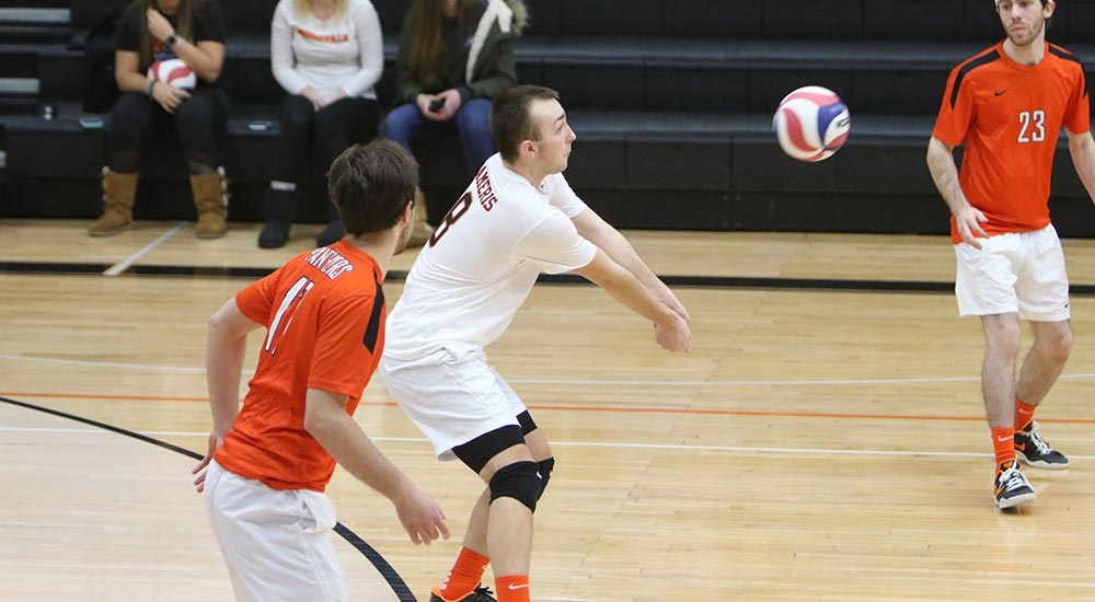 Men's volleyball tops Missouri Baptist, falls to Fontbonne