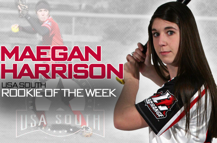 Softball: Maegan Harrison selected as USA South Rookie of the Week