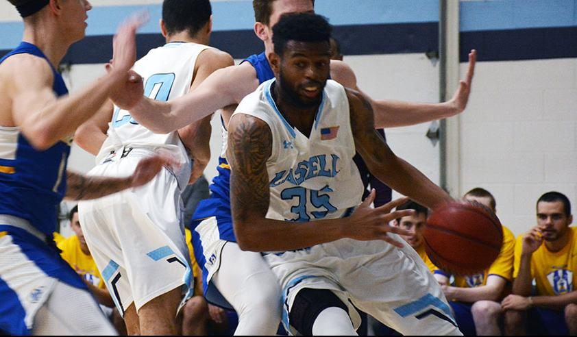 Lasell Men's Basketball holds off Emmanuel