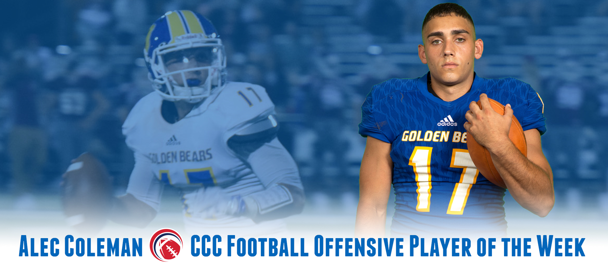 Alec Coleman Earns First CCC Football Offensive Player of the Week Award