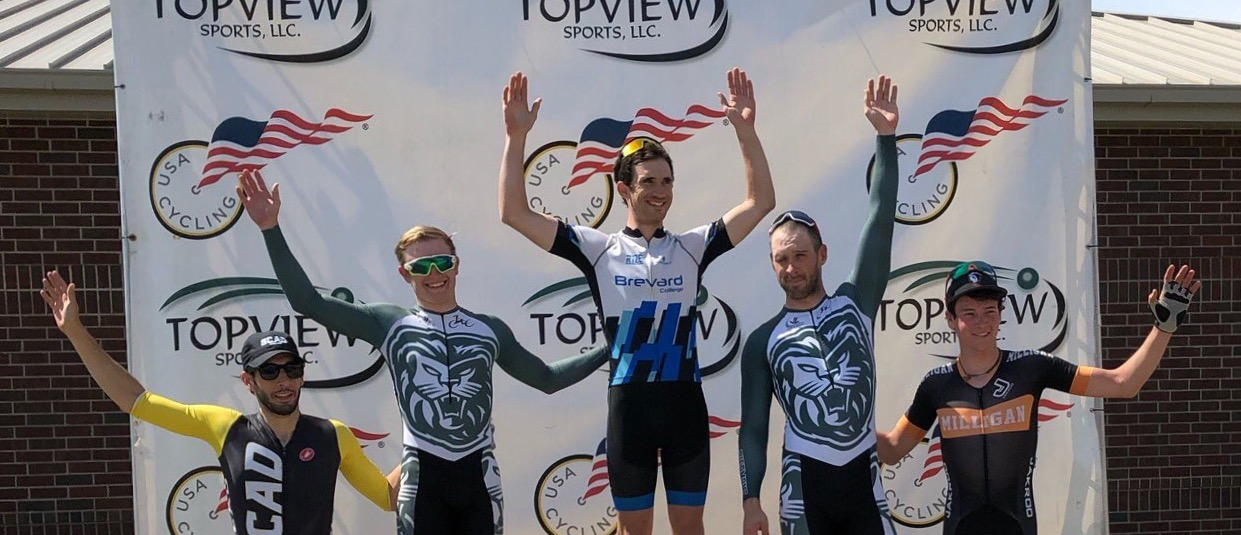 Big Weekend on the Podium for Brevard College Cycling at the Tiger Town Omnium