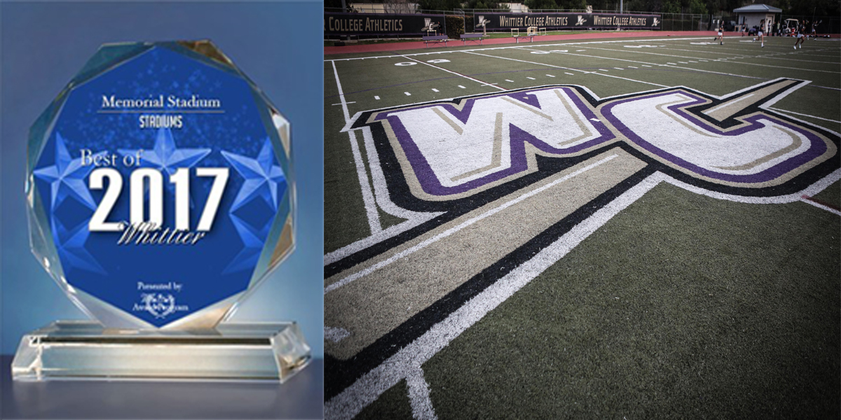 Memorial Stadium Receives 2017 Best of Whittier Award