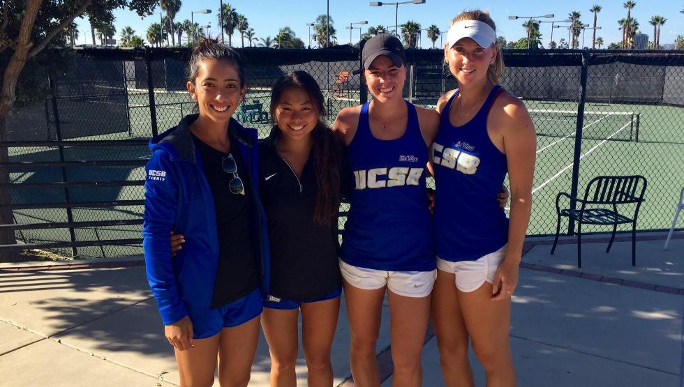 Melissa Baker, Stephanie Yamada, Stefani Stojic and Palina Dubavets have advanced to the doubles semifinals of the ITA Southwest Regional in San Diego.