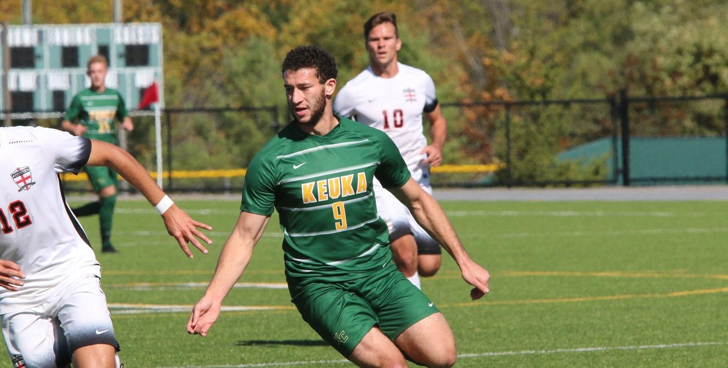 Seth Spurgeon (9) scored his sixth goal of the season in the Keuka College victory