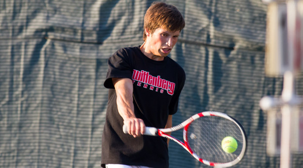 Alexey Topolyanskiy and his Tiger teammates dropped a 9-0 decision to 13th-ranked Case Western. File Photo | Erin Pence