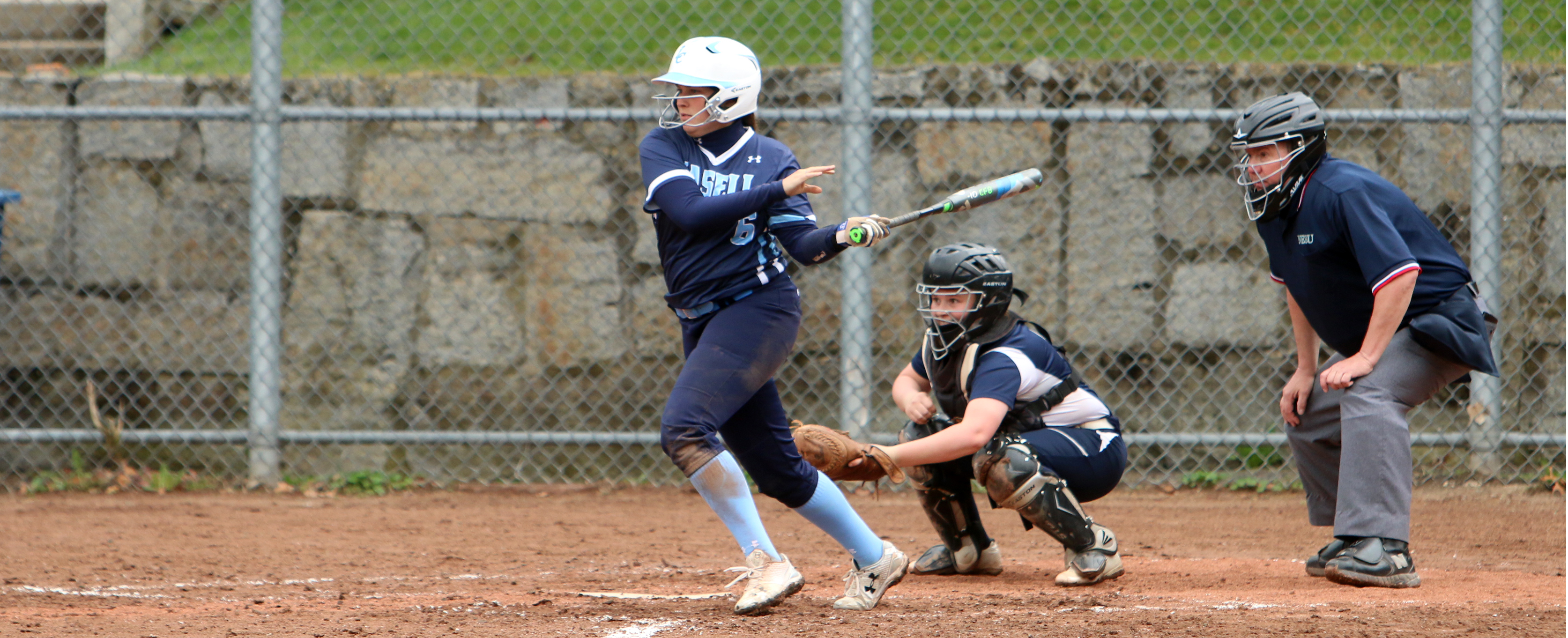 Simmons Sweeps Softball in GNAC Twinbill