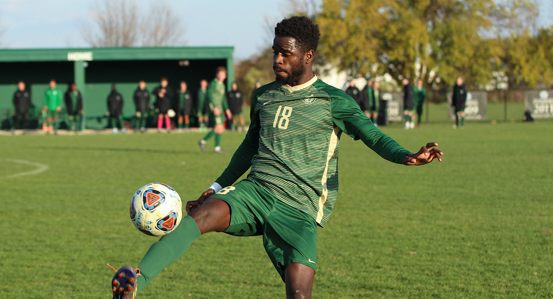 Abdoul Magid Sy scored both goals in a 2-1 win over Walsh in the GMAC tourney.