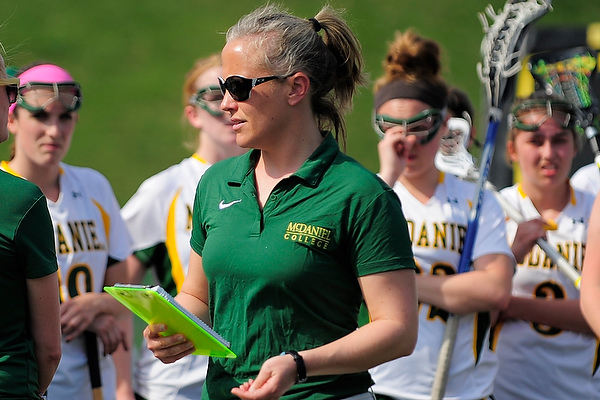 Muffie Bliss resigns after 10 years and 94 wins at the helm of the women's lacrosse program � 2013 David Sinclair/McDaniel College