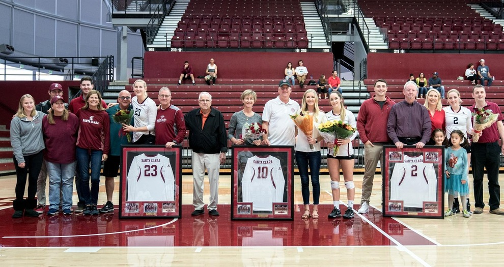 Volleyball Wins Thriller on Senior Day, Downs LMU in Five Sets