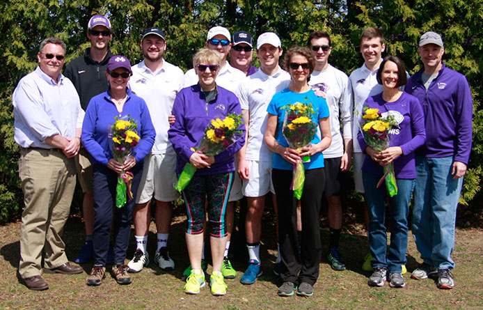 Men's tennis falls to Franklin Pierce, 6-3, to cap season on Senior Day