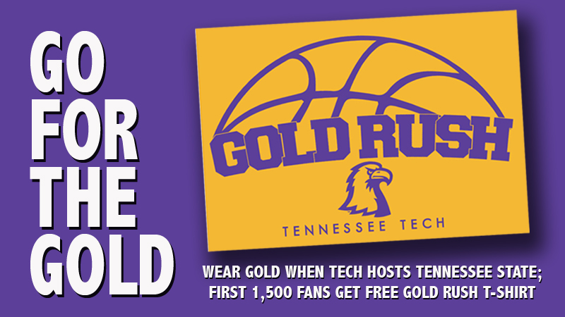 GOLD RUSH: Free t-shirts for first 1,500; All fans asked to wear gold on Jan. 30